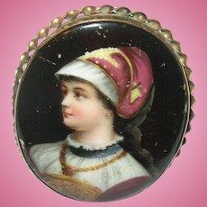 Antique Portrait Brooch