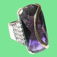 Art Deco Sterling 18K Ring