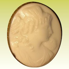 Antique Milk Glass Cameo 1880's