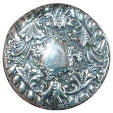 Art Nouveau Sterling Crystal Vanity Jar