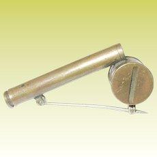 Victorian Brass Atomizer Brooch
