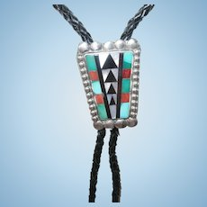 Vintage Bolo Tie Native American by Z.M.E