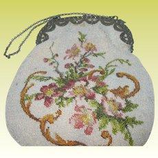 Micro Beaded Hang Bag 1870s