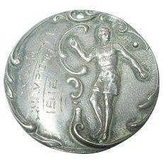 Antique Sterling Medal YMCA 1912