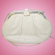 Judith Leiber Lizard Leather Shoulder Clutch Bag