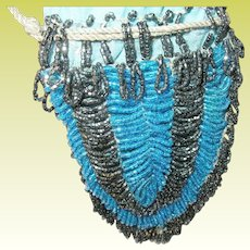 Vintage Flapper Beaded Small Bag 1920s