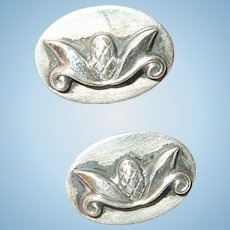 Vintage Cufflinks Sterling Modernist Design