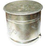 Victorian Sterling Vermeil Cane Top Box