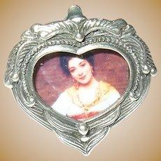 Vintage Miniature Sterling Picture Frame
