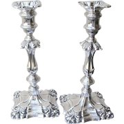 20th Century Sterling Candlesticks Repousse Work (Offer's Are Welcomed)
