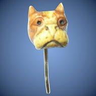 Victorian Stickpin Gold Filled Molded Bulldog
