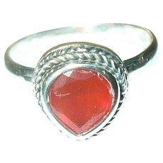 Vintage Ring Sterling Carnelian