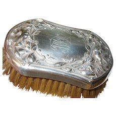 Art Nouveau Sterling Clothes Brush Repousse