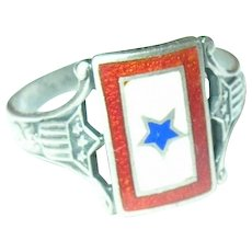 Vintage WW II  Ring Son's in Service Blue Star