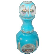 Vintage Art Glass Scent Bottle Mille Flore