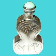 Vintage Scent Bottle Sterling Turquoise
