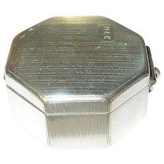 Vintage Sterling Vanity Box by E.J.B. Co.