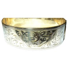 Victorian Bangle Rolled Gold Chased