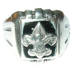 Vintage Sterling Ring Boy Scouts
