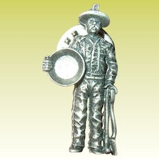 Vintage Tie Tack Gold Prospector