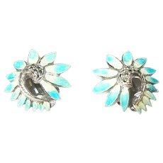 Vintage Earrings Sterling Enamel