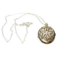 Vintage Vinaigrette Locket Necklace
