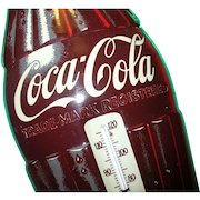 Vintage Coca Cola Tin Thermometer