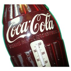 Vintage Coca Cola Tin Thermometer