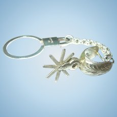 Vintage Sterling Key Chain Spur