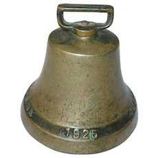 Vintage Colonial 1832-1925 Brass Bell