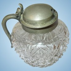 Early American Cut Crystal Condiment Jar