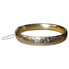 Edwardian Hinged Bangle Rolled Gold