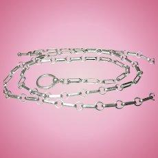 Vintage Link Necklace Sterling