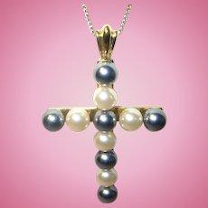 Vintage Necklace Pendant Cross
