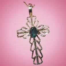 Vintage Cross Pendant Necklace