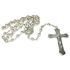 Vintage Sterling Rosary