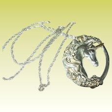 Vintage Pendant Necklace Unicorn by Gorham