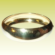 Vintage Hinged Bangle Sterling Vermeil