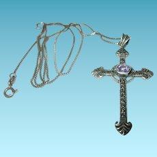 Vintage Necklace Pendant Sterling