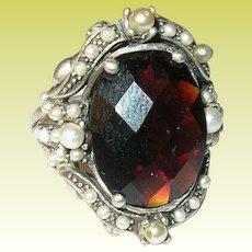 Vintage Ring Sterling Baroque Design