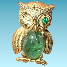 Vintage Owl Brooch by Castlecliff