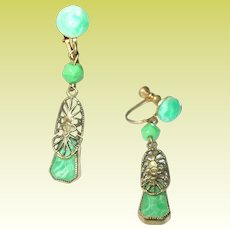 Vintage Czechoslovakian Drop Earrings