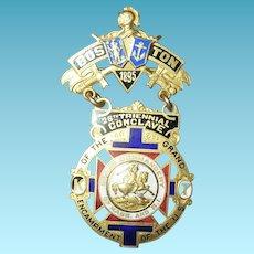 Boston 26th Triennial Conclave Badge 1895