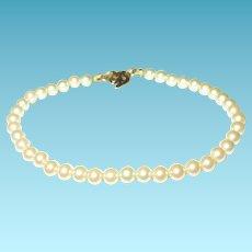 Vintage Bracelet Fresh Water Cultured Pearls