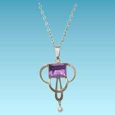 Vintage Lavaliere Pendant Necklace