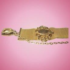 Gold Filled Watch Fob Mesh Design