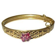 Vintage Gold Filled Hinged Bangle