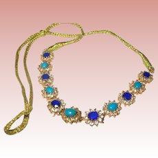 Vintage Necklace Faux Stones