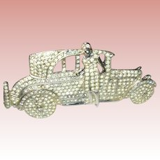 Vintage Brooch  Flapper Roadster by Polcini