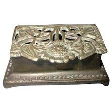 Art Nouveau Bronze Stamp Box